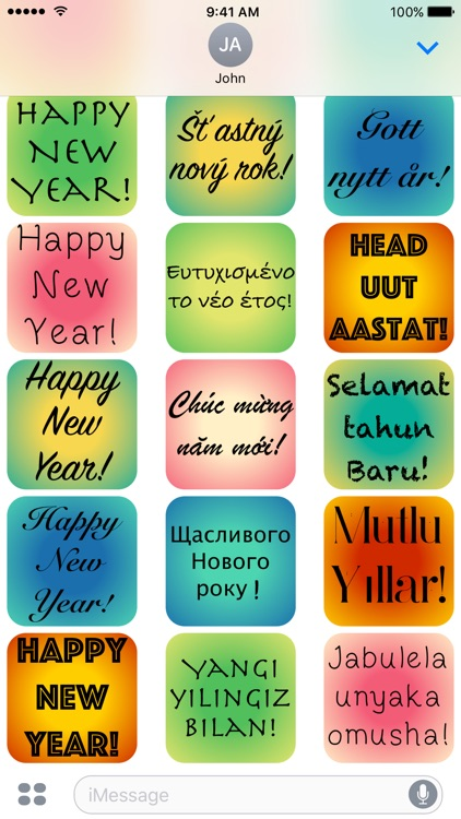 New Year - A to Z Stickers