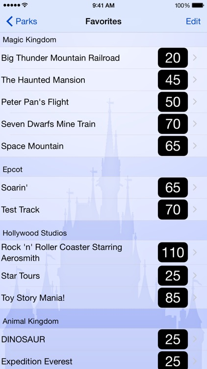 Wait Times for Disney World screenshot-4