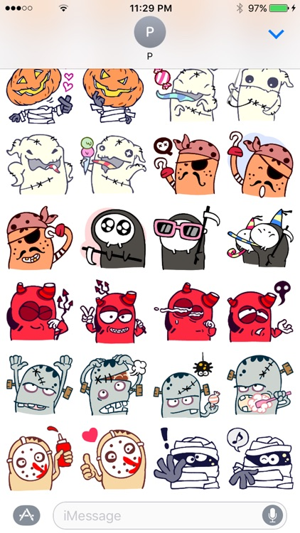 Halloween Monsters StickerPack