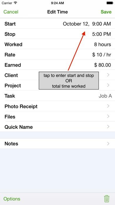 Timetracker review screenshots