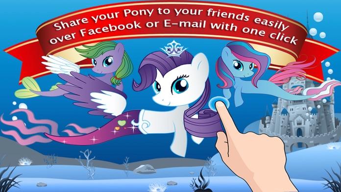 Dress Up Games for Girls - Fun Mermaid Pony Games Screenshot
