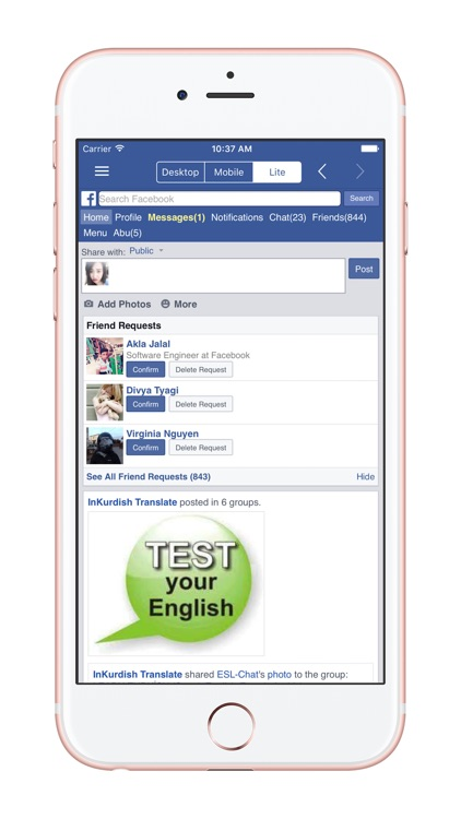 fMode - Browser Mode for Facebook