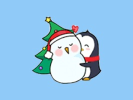Merry Christmas PenGuins Animated Stickers