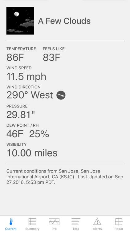 Wx for iPhone