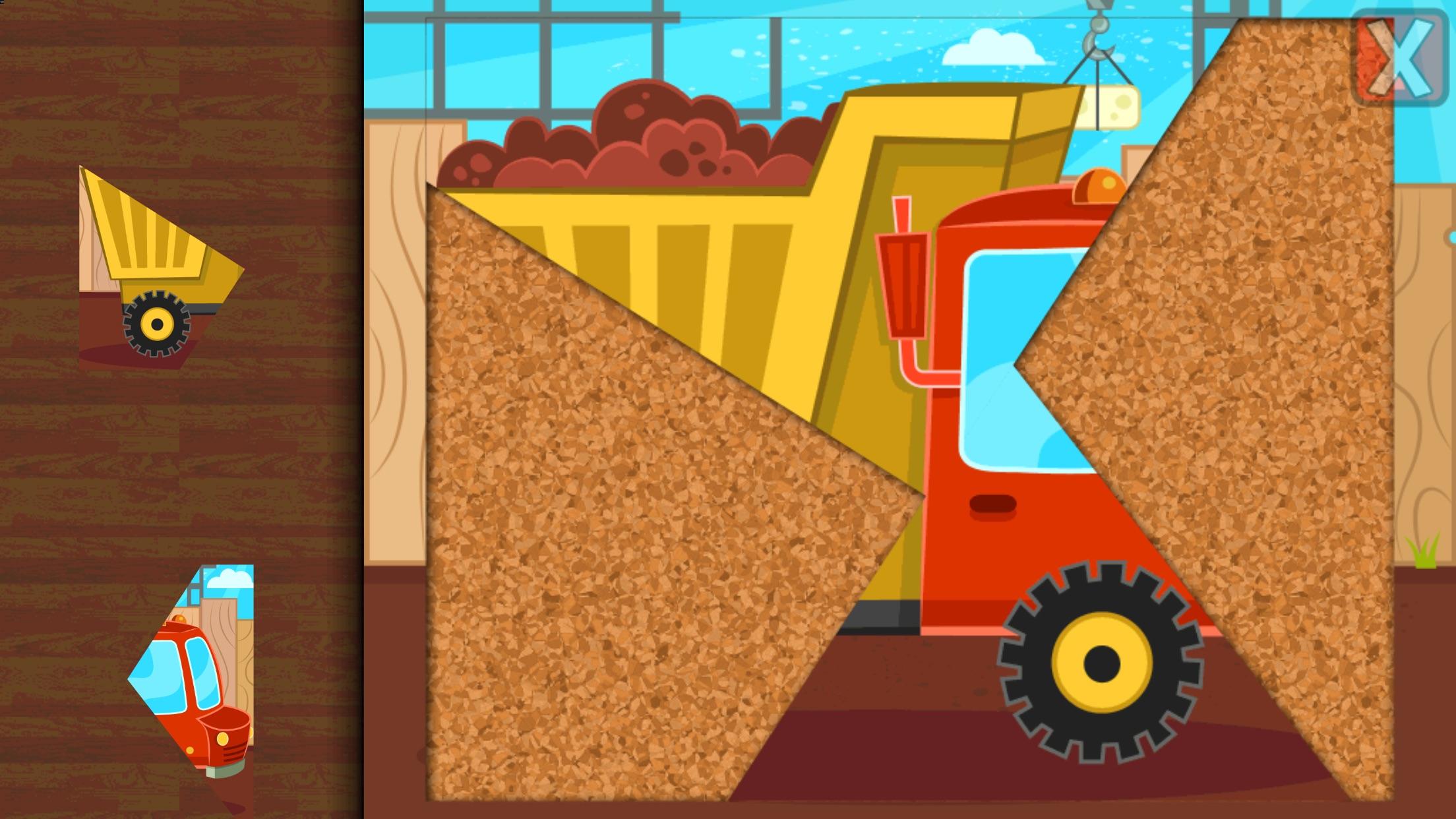 Kids Car, Trucks & Construction Vehicles - Puzzles Screenshot