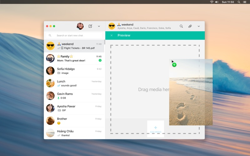 WhatsApp Desktop Screenshots