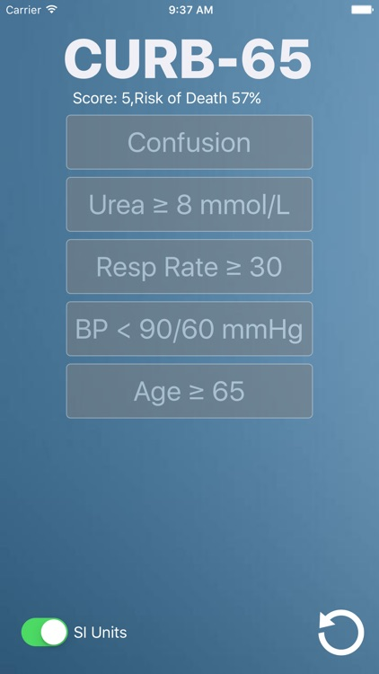 CURB-65: Medical Risk Calculator for Bacterial and Viral Pneumonia