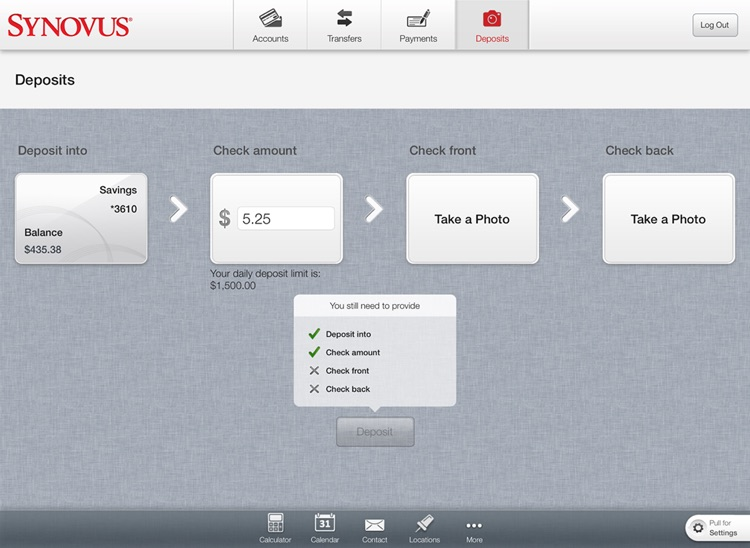 Synovus Mobile Banking for iPad screenshot-1