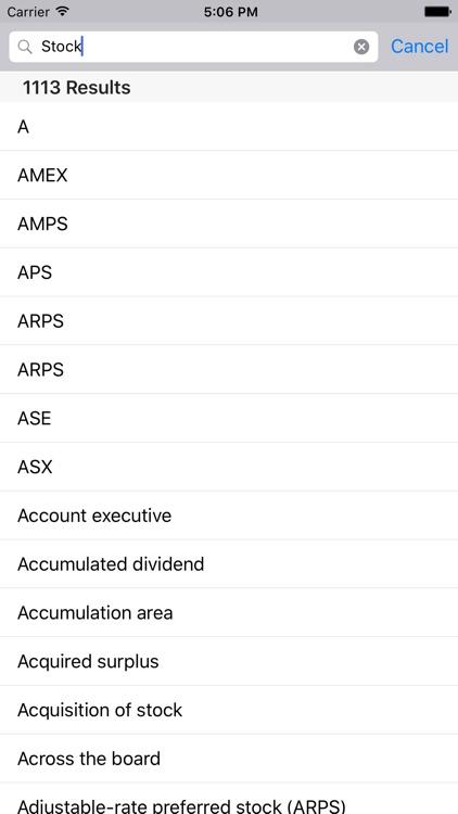 Financial Terms for iPad screenshot-3