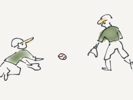 Take yourself out to the ball game with this fun, hand drawn set of baseball character stickers