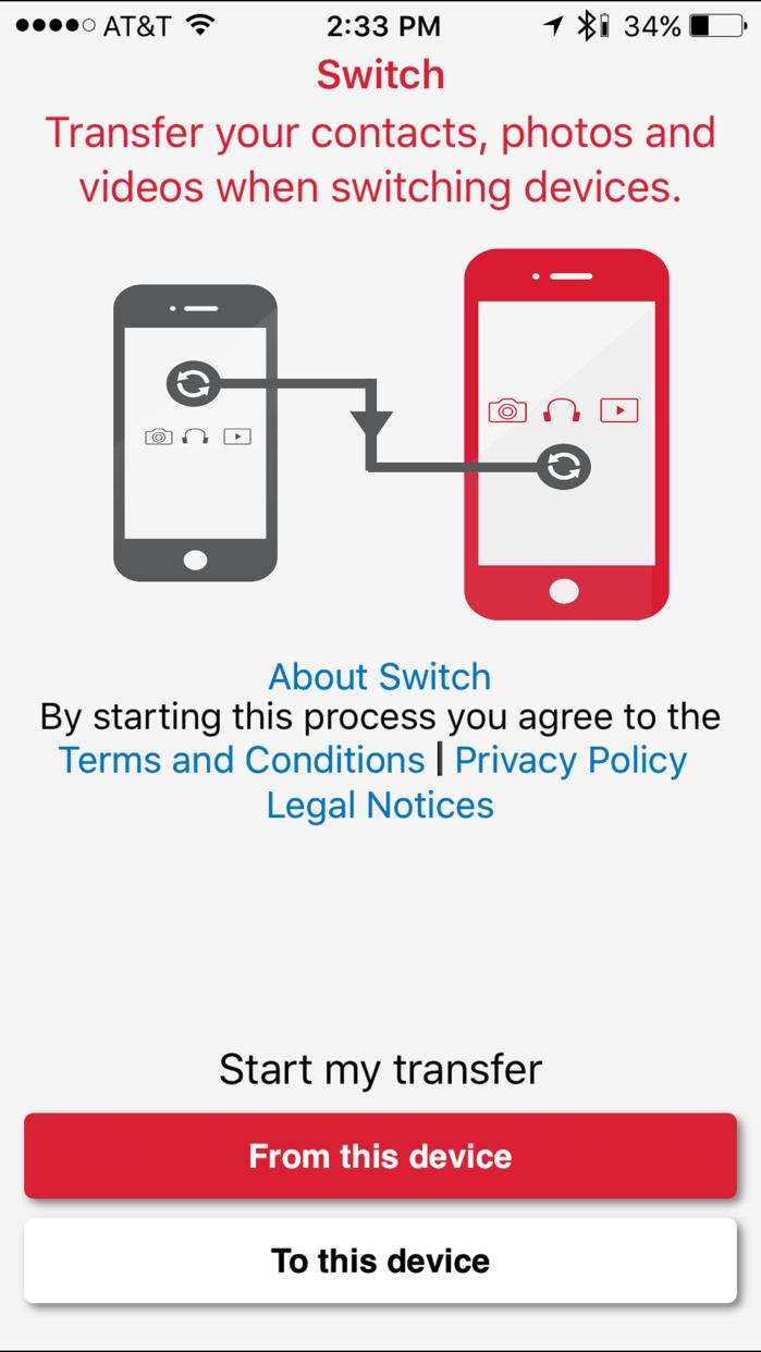 Switch Mobile Transfer Screenshot