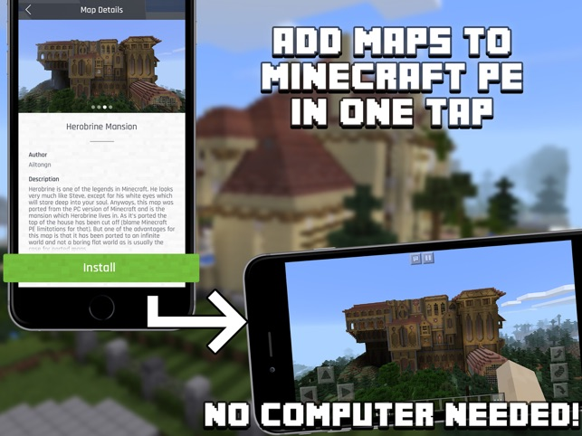 Mansion Maps For Minecraft PE Minecraft Maps On The App Store - Minecraft maps download fur handy
