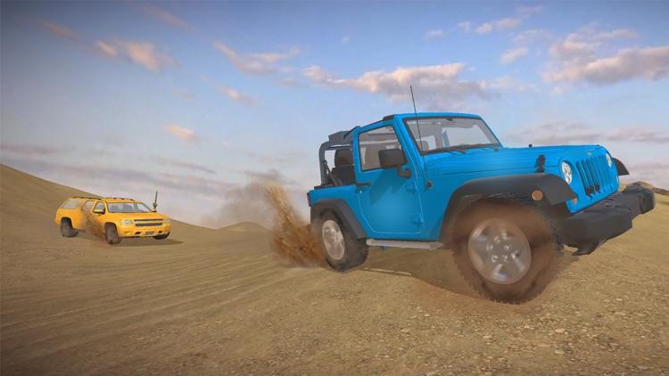 4X4 Offroad Jeep desert Safari - Driving 3D Sim screenshot-3