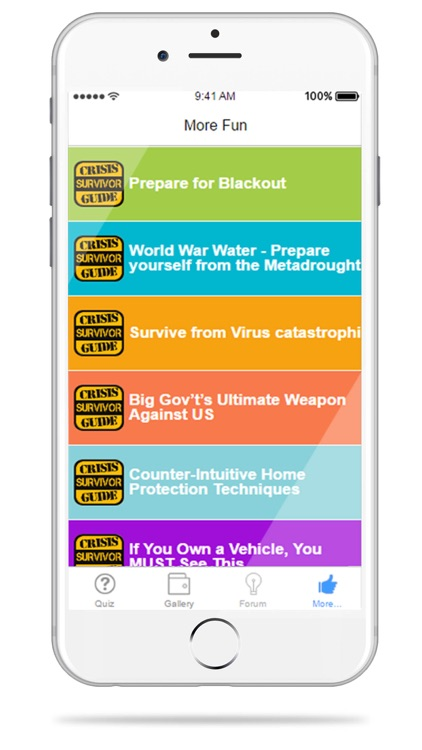 Crisis Survivor Guide - Become Expert Preppers with Emergency Survival Quiz