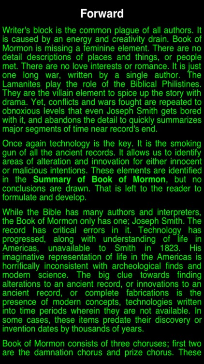 Summary Book of Mormon (part I)
