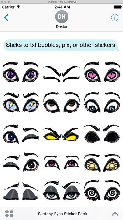 Sketchy Eyes add Expression to Texts Faces and Pix screenshot-3