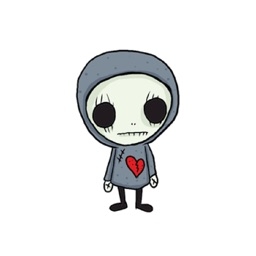 SkullGnome the Cute Grim Reaper Stickers