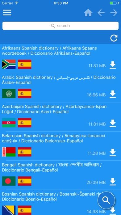 西班牙文 - 多種語言 字典屏幕截圖1
