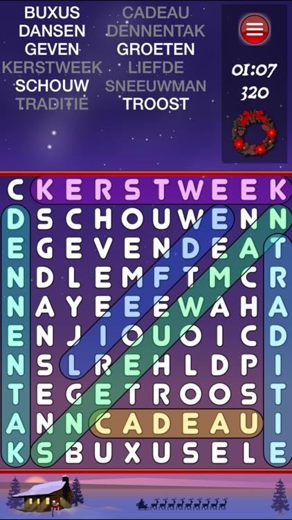 WordSearch Christmas (Dutch) screenshot-3
