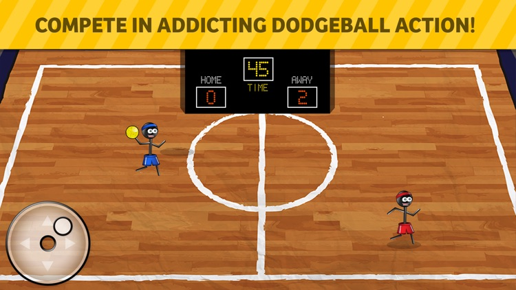 Stickman 1-on-1 Dodgeball