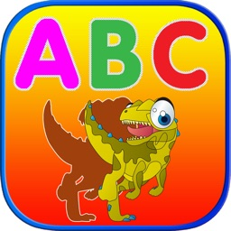 Learn ABC Dinosaur Shadow Puzzle - Flash Card Game