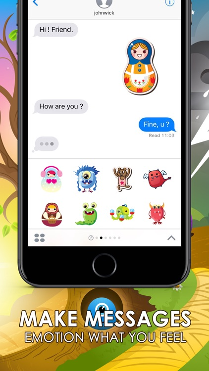 Cute Emoji Sticker Cutie Keyboard Themes ChatStick
