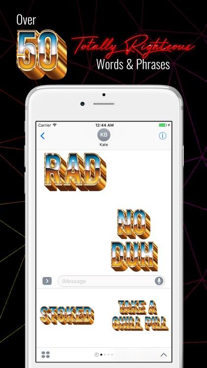Retro Messages - 80s 3D Gold Metal