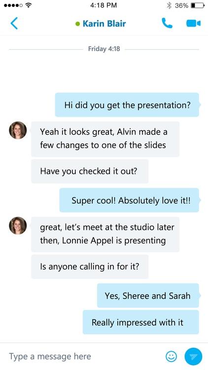 Skype for Business (formerly Lync 2013)