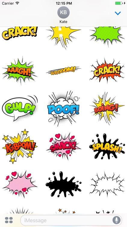Comic Speech Bubbles Stickers Mania screenshot-3