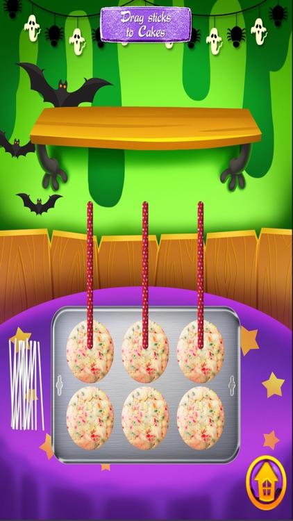 Halloween Cake Pops - Kids Dessert Food Games FREE screenshot-3