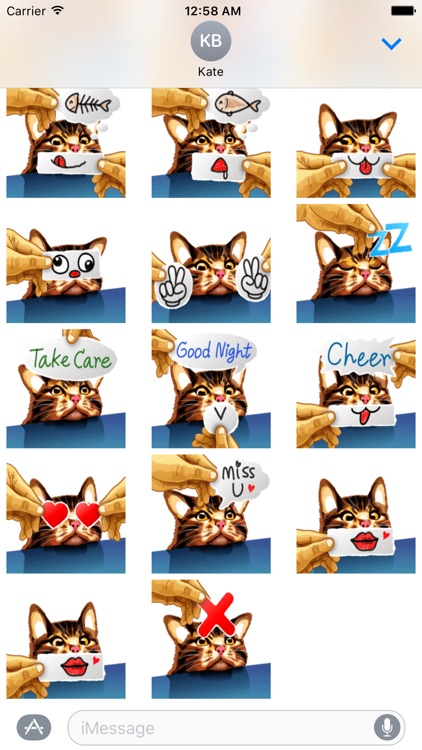 Paper Cat - Stickers for iMessage