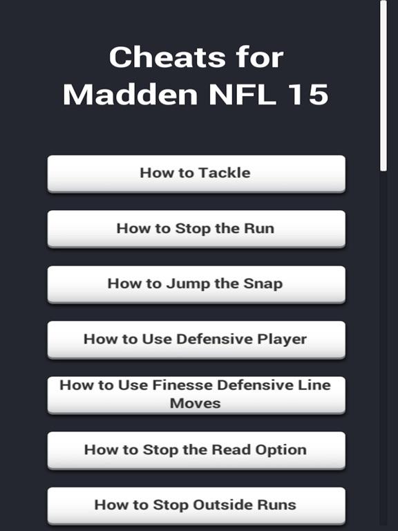 Cheats for Madden NFL 15-ipad-0