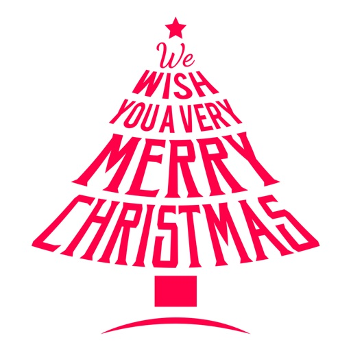 Merry Christmas Wish Typography Stickers