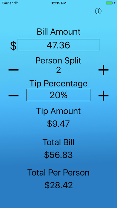 Just The Tip - Tip Calculator screenshot two