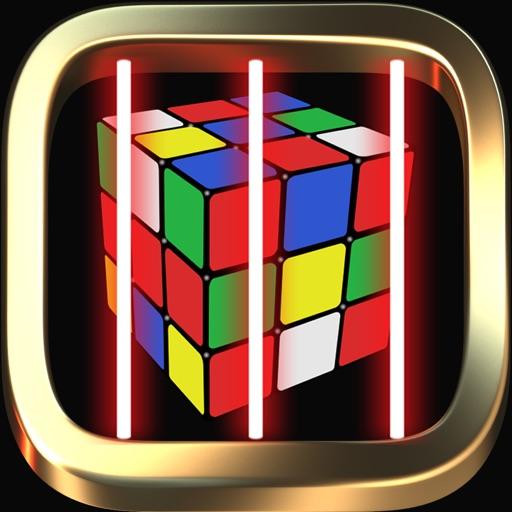 Cube magic runner escape laser room in dark iOS App