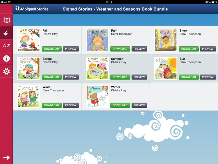 Signed Stories - Weather and Seasons Book Bundle