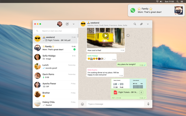 WhatsApp Desktop on the Mac App Store