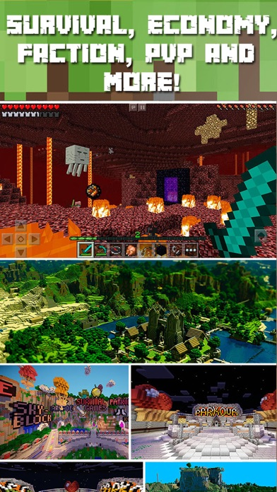 Multiplayer Servers for Minecraft Pocket Edition + Screenshot