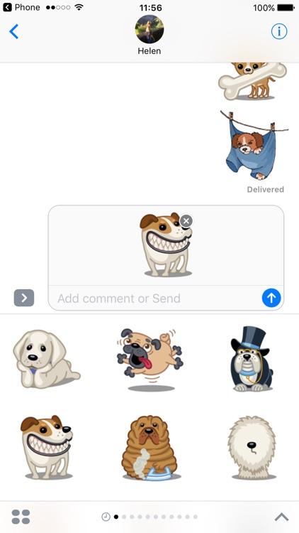 Dog Emoji Animated Sticker Pack for iMessage