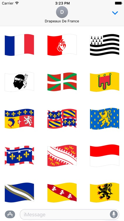 Drapeaux de France Stickers screenshot-0