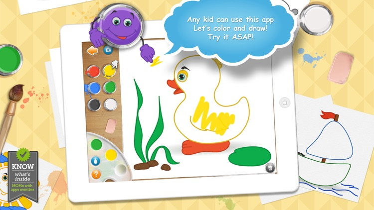 Live Colors for Kids. Coloring pages 4 girls&boys