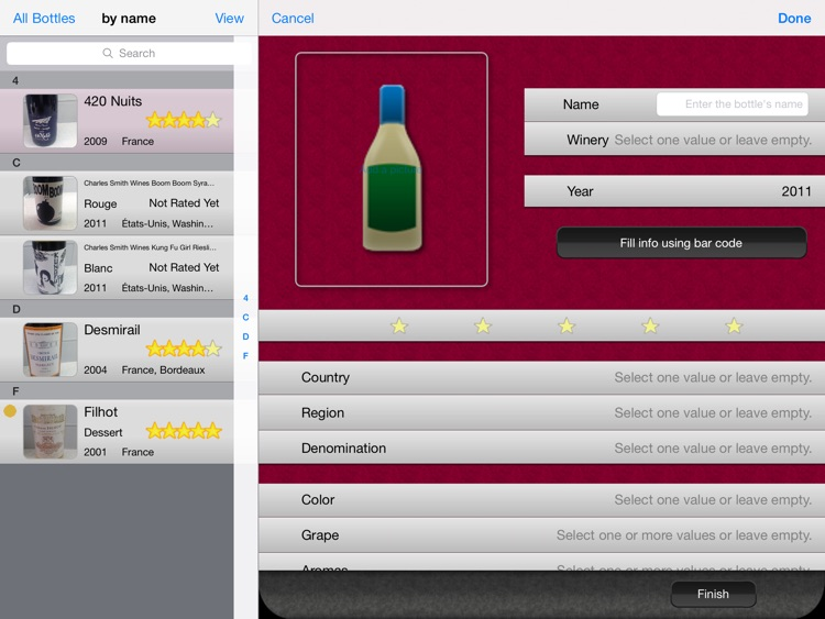 Wine Cellar HD screenshot-2