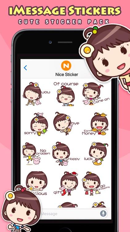 Yolk Girl - Cute Stickers by NICE Sticker