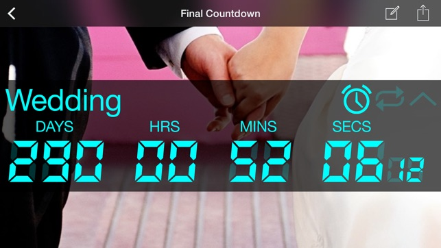 Final countdown timer on the app store