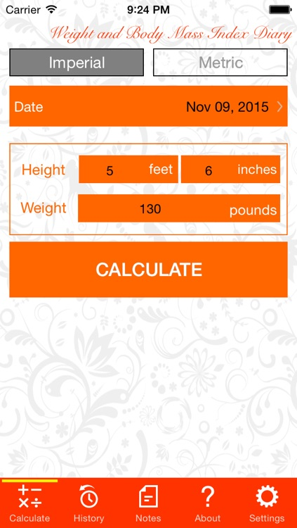 Weight and BMI Diary