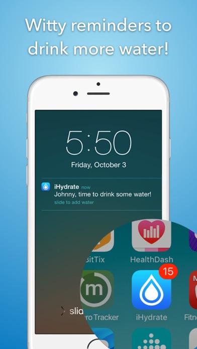 iHydrate -Daily Water Tracker & Hydration Reminderのおすすめ画像2