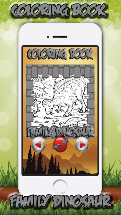 Kids Coloring Book Family Dinosaur Screenshot 1