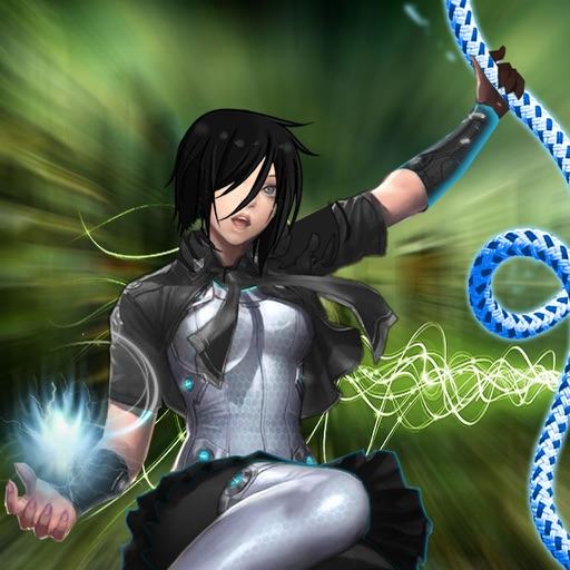 Amazing Girl Swing Rope - Warrior & Ninja Rope Race Game