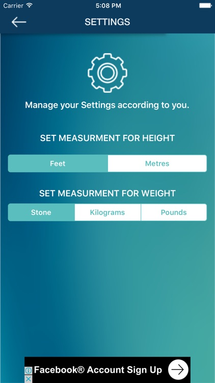 Mobile BMI Calculator