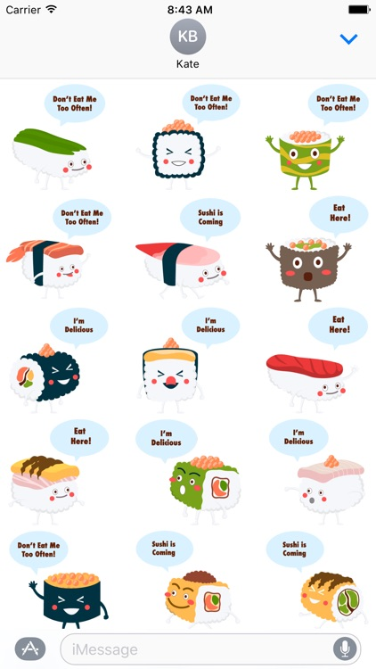 Sushi Stickers for iMessage #1